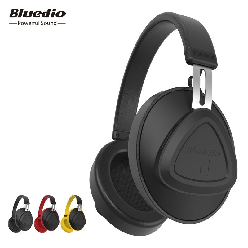 Bluedio original TM bluetooth headphone with microphone voice control over ear monitor studio wireless headset for phone
