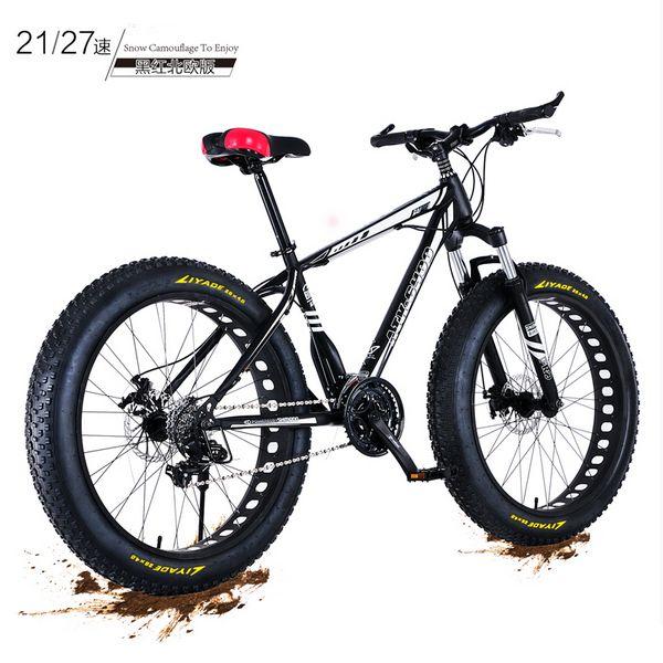 Neue X-Front marke 4,0 fett breite reifen 26 zoll 21/27 speed carbon stahl mountainbike strand downhill fahrrad snowmobile bicicleta