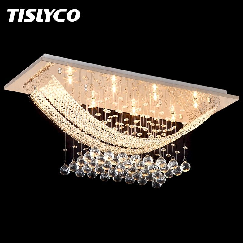 Luxuriant Crystal Chandelier Lighting Fixture Crystal Light Lustres de cristal for Living Room Ceiling Lamp Free Shipping