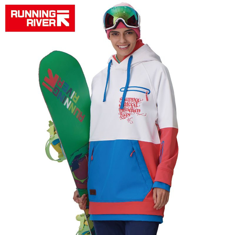 RUNNING RIVER Brand Women Snowboarding Hoodie <font><b>2017</b></font> High Quality Hooded Sports Snowboarding Jacket 5 Colors 3 Sizes #G6220