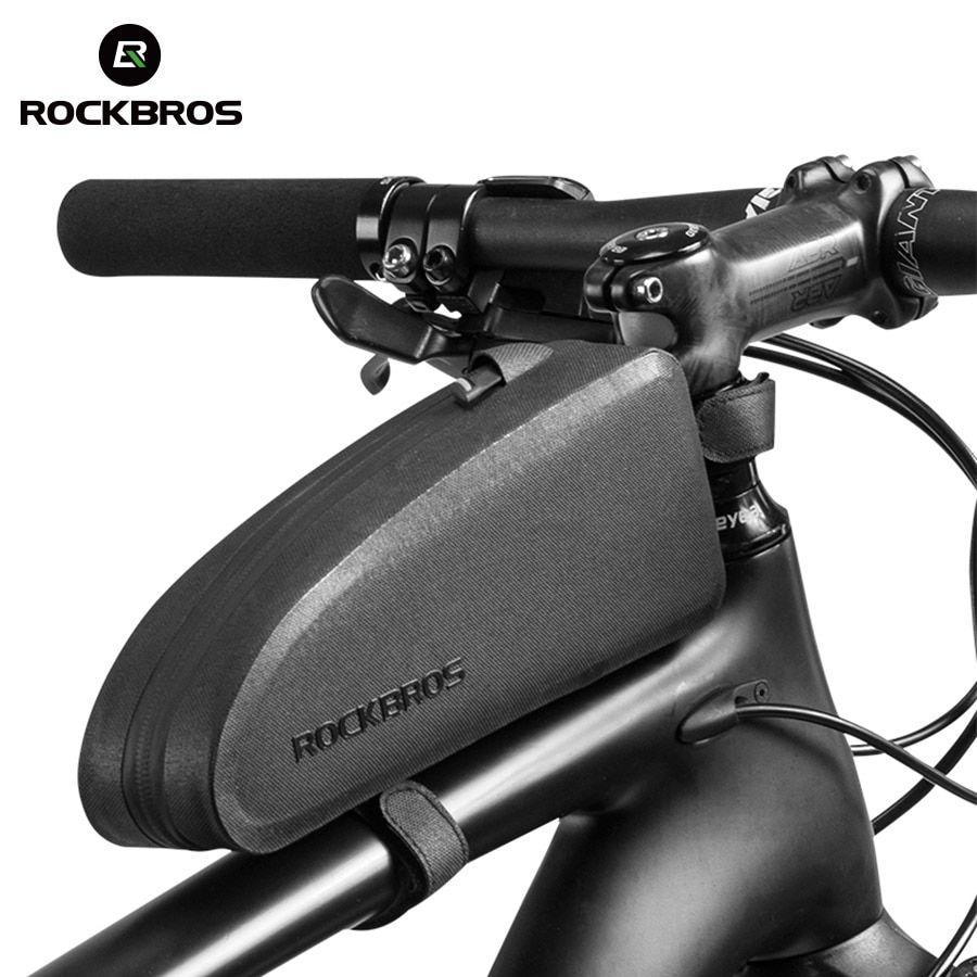ROCKBROS Bicycle Bags Waterproof Cycling Top Front Tube Frame Bag Large Capacity MTB Road Bicycle Pannier Black Bike Accessories