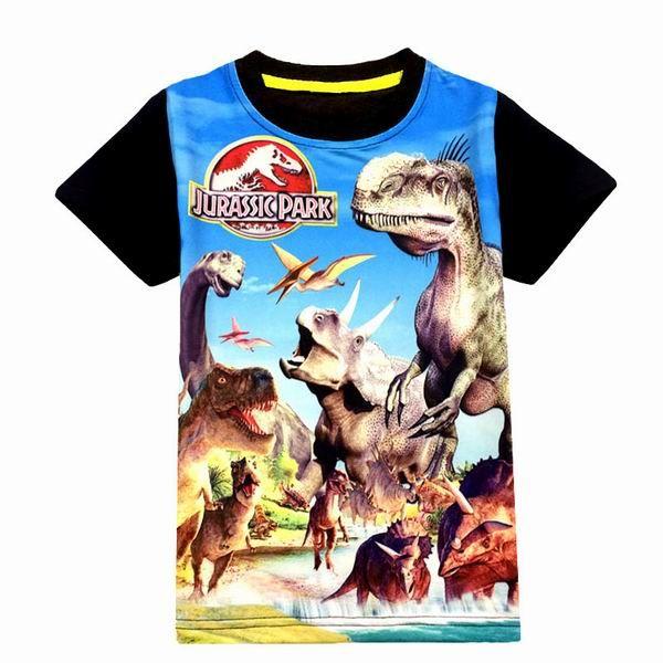 Jurassic Welt dinosaurier kinder jungen t-shirt sommer baby kinder jungen tops t shirts für kinder jungen kleidung 3-9 T