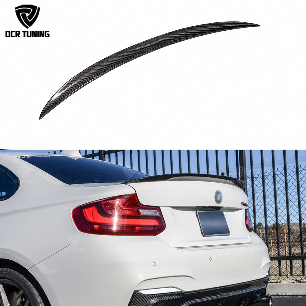 For BMW F22 Spoiler Performance Carbon Fiber Spoiler 2 Series F22 Coupe & F23 Convertible & F87 M2 220i M235i 228i 2014 - UP