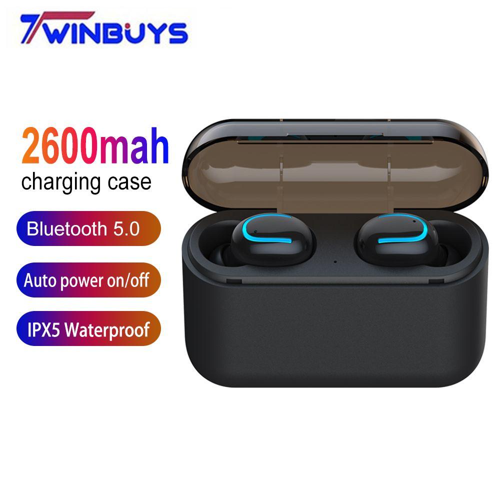 Casque d'écoute sans fil TWS Bluetooth 5.0 écouteurs 2600 mah Mini casque de charge Bluetooth pour xiaomi iphone samsung