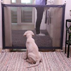 Magic-Gate Dog Pet Fences Portable Folding Safe Guard Indoor and Outdoor Protection Safety Gate For Dogs Cat Pet