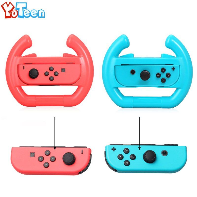 1Pcs Left + 1Pcs Right for Switch Joy-Con Gaming Steering Wheel NS NX Wheel for Nintend Switch Case Cover Handel Holder Stand