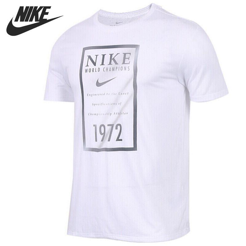 Original Neue Ankunft 2018 NIKE DRY T GOLD BANNER männer T-shirts kurzarm Sportswear