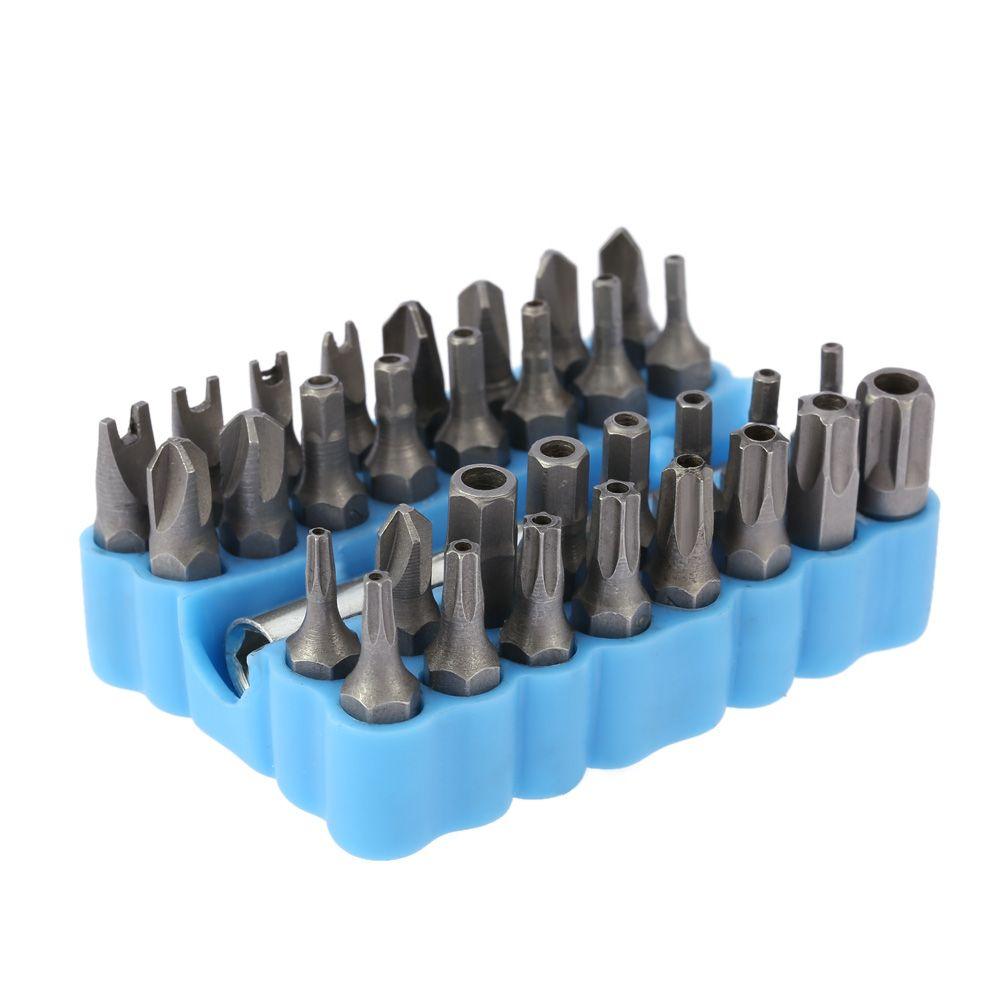 33pcs/set Chrome Vanadium Steel Magnetic Screwdriver Head Set Professional Star Hex Spanner Torx Screwdriver Bit Set with Holder