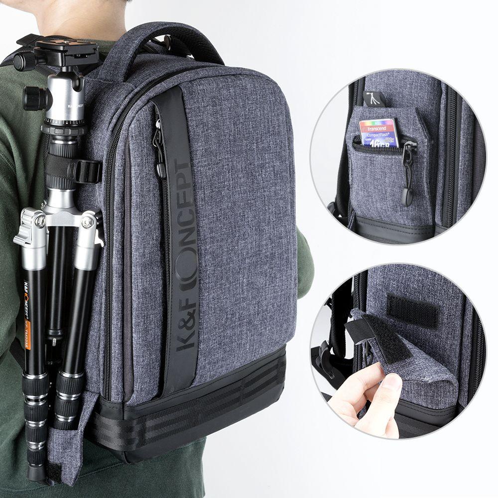 K & F CONCEPT mode sac multifonctionnel étanche caméra Photo sac à dos grande taille sacs pour ordinateur portable pour Canon Nikon Sony Fujifilm SLR