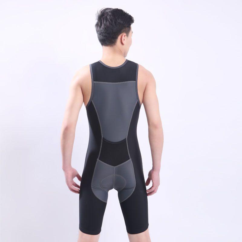 Schnelles Verschiffen Ironman Triathlon Skinsuit Sleeveless Integrierte Anzug Badebekleidung einteiliges Radtrikot Für Training Wettbewerb