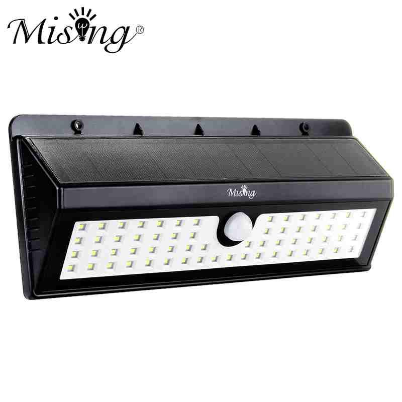 800LM 62 LED Garden Light LED Solar Light Outdoor PIR Human Body Motion Sensor Waterproof IP65 Emergency Wall Lamp 8W