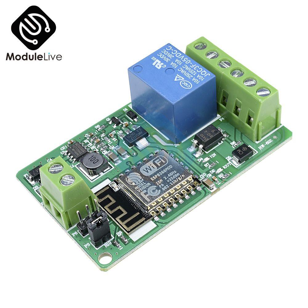 ESP8266 220 v 10A Netzwerk Relais WIFI Modul DC 7-30 v HTTP Control TCP Client TVS Schutz 4 -schichten Bord PCB Pin Anti-climb