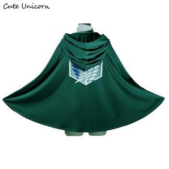 SALE Attack on Titan Cloak Shingeki no Kyojin Scouting Legion Cosplay Costume anime cosplay green Cape mens clothes