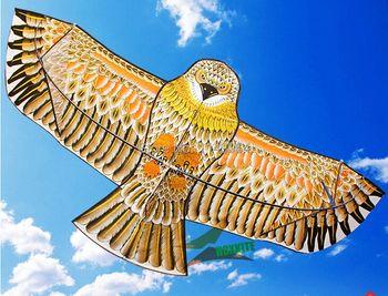 Бесплатная доставка Высокое качество 1,8 м золотой орел кайт с ручкой линии кайт игры Птица воздушный змей Вэйфан китайский воздушный змей л...