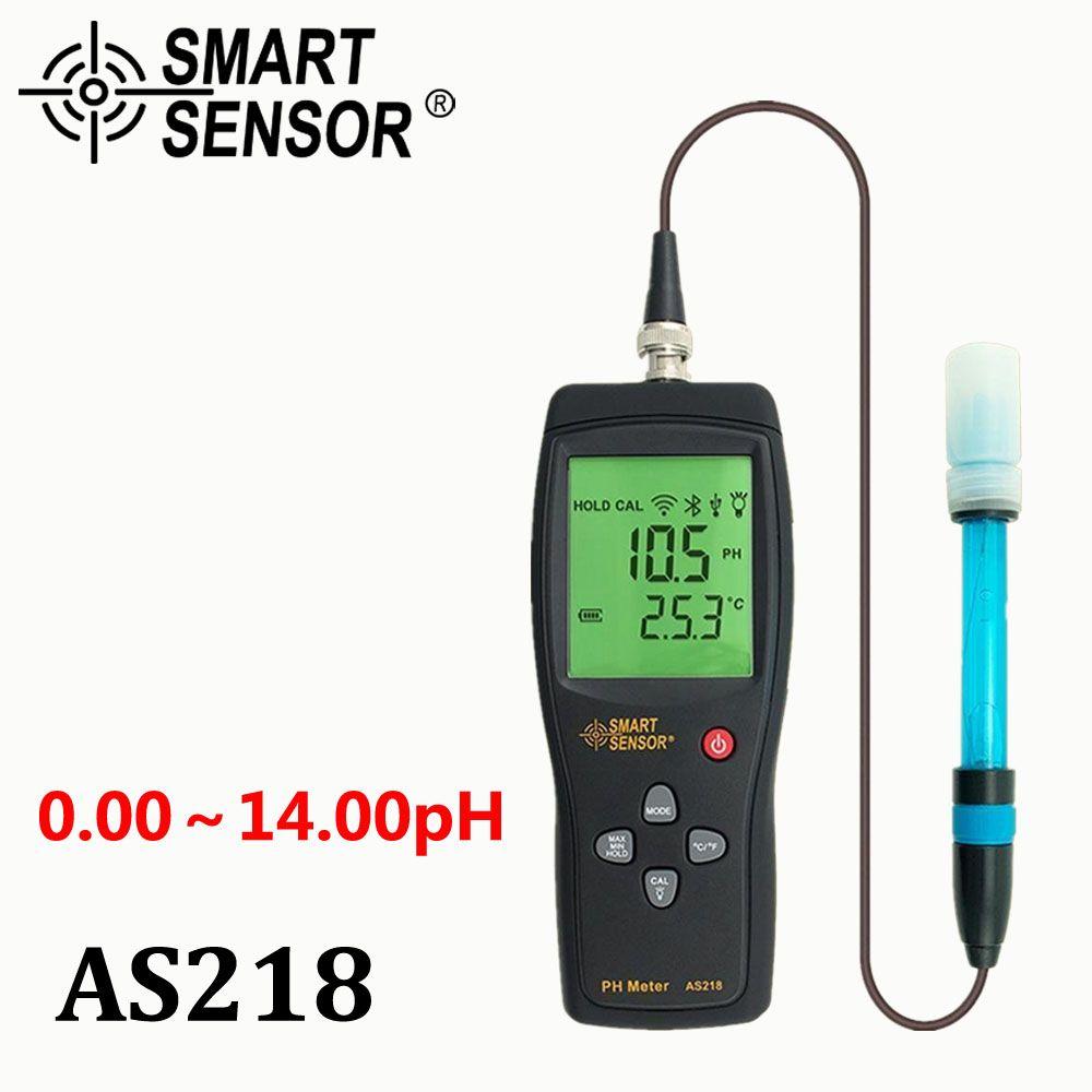 Цифровой рН-метр почвы метр рН-тестер SmartSensor as218 0.00 ~ 14.00pH прибор для измерения влажности рН воды кислотность метр