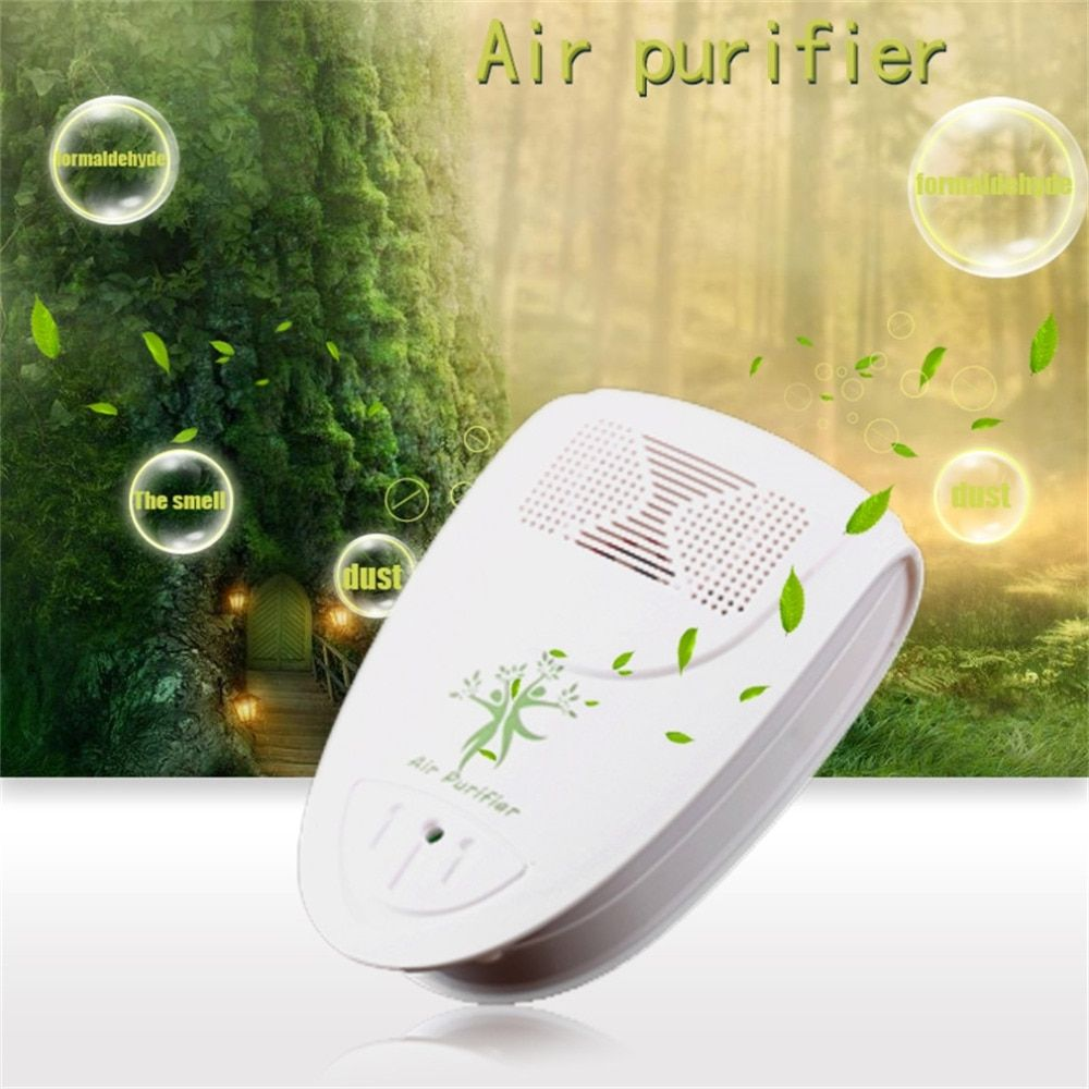 New Mini Indoor Oxygen Bar Ionizer Air Fresh Purifier Home Wall 110/220V With Adapter Home Autocar Negative Ion Purifier US Plug