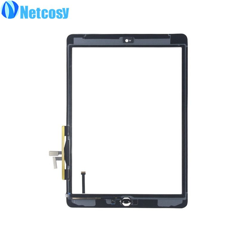 Netcosy For ipad Air 1 A1474 A1475 Touch Screen Digitizer Assembly & Home Button repair parts For ipad 5 Tablet touch panel
