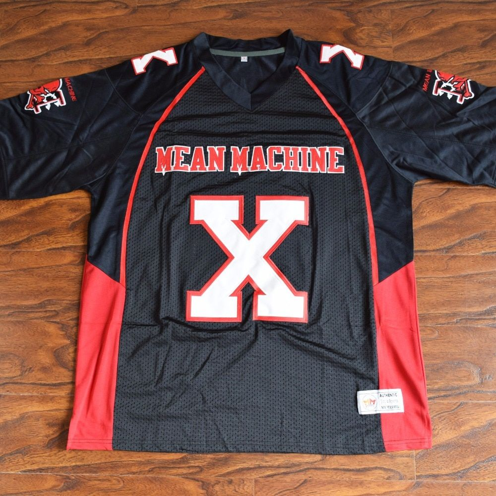 MM MASMIG Bill Goldberg Joey Battle Battaglio #X Mean Machine Football Jersey Stitched Black