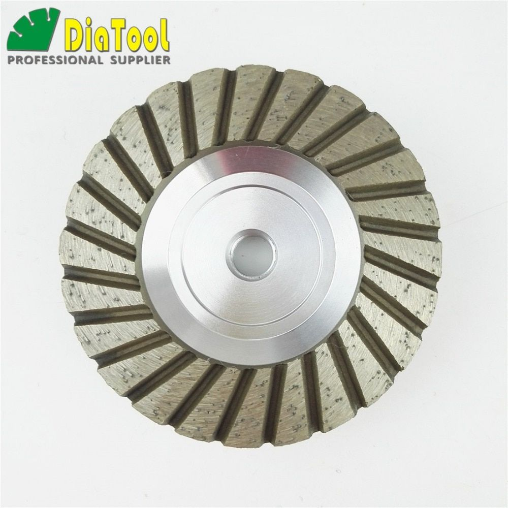 DIATOOL 4inch Grit 30 Aluminum Based Diamond Grinding Cup Wheel with M14 Thread Grinding Wheel For Granite Concrete