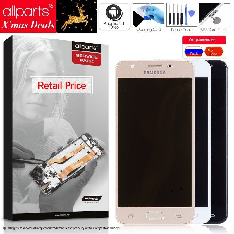 2GB RAM 5.0'' Original Display for SAMSUNG J5 Prime LCD Touch Screen with Frame for SAMSUNG Galaxy J5 Prime G570F G570 SM-G570F