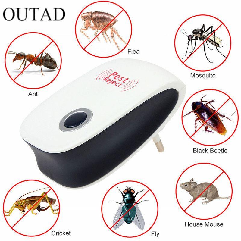 EU Us-stecker Elektronische Cat Ultraschall Antimoskito-insekt Pest Controler Maus Schabe Plagemit Verbesserte Version