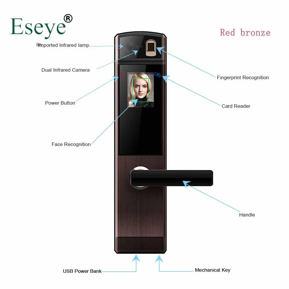 Eseye Smart Elektronische Türschloss Sicher Smart Gesicht Anerkennung Türschlösser Fingerprint Digitale Türschloss Passwort & RFID Entsperren