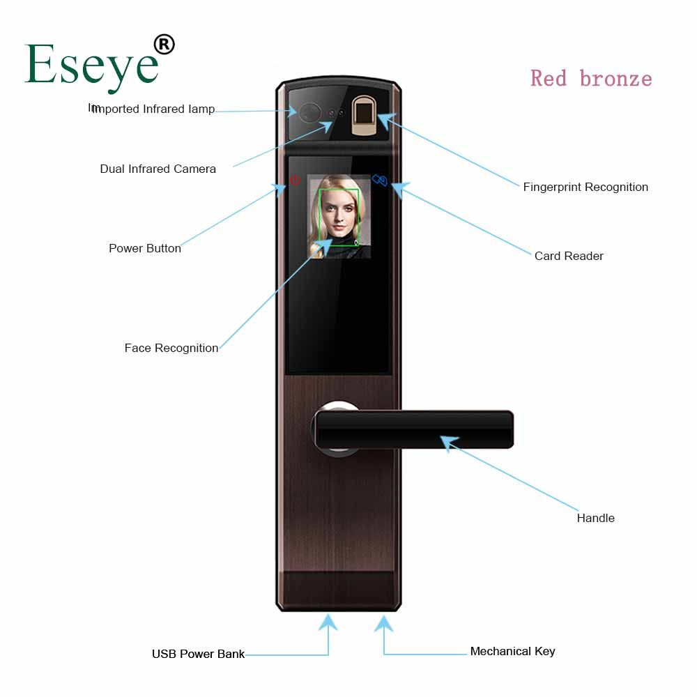 Eseye Smart Electronic Door Lock Safe Smart Face Recognition Door Locks Fingerprint Digital Door Lock Password & RFID Unlock