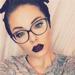 2018 Marco de gafas marco claro lente mujeres gafas de marca marcos ópticos miopía nerd negro rojo marco