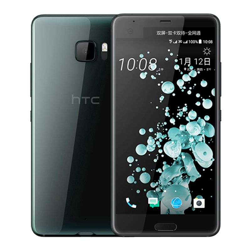 Original HTC U Ultra Mobile Phone LTE 4GB RAM 64GB ROM Snapdragon 821 2560x1440px Quad Core Android 7.0 3000mAh NFC