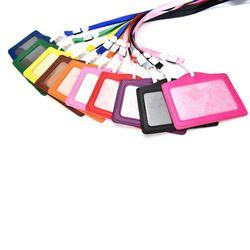 Femmes Hommes Nom Détenteurs de Cartes de Crédit PU Carte Bancaire Courroie De Cou carte Bus ID porte-couleurs de sucrerie Identité badge avec cordon 10.3*8 CM