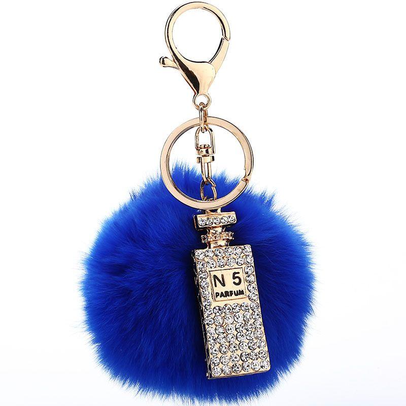 2016 nouveau bijou Porte-Clé pompons porte-clés De fourrure de Lapin Porte-clés moelleux porte-clés pour voitures porte-clés bibelots pom pom keychain
