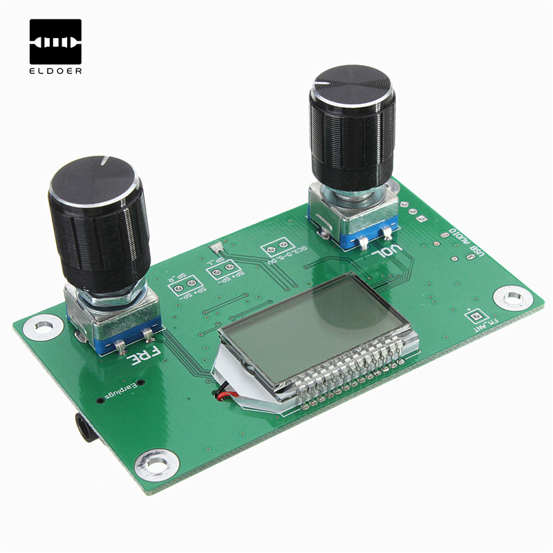 New Arrival DC 3V-5V DSP & PLL Stereo FM Radio Receiver Module 87-108MHz With Serial Control Integrated Circuits Modules