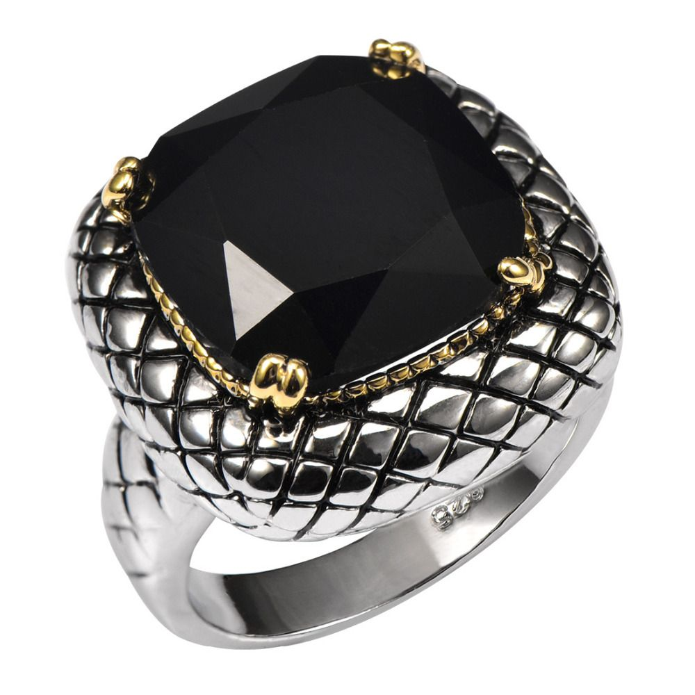 Huge Black onyx 925 Sterling Silver Ring Factory Price For Women and Men Size 6 7 8 9 10 11 F1515
