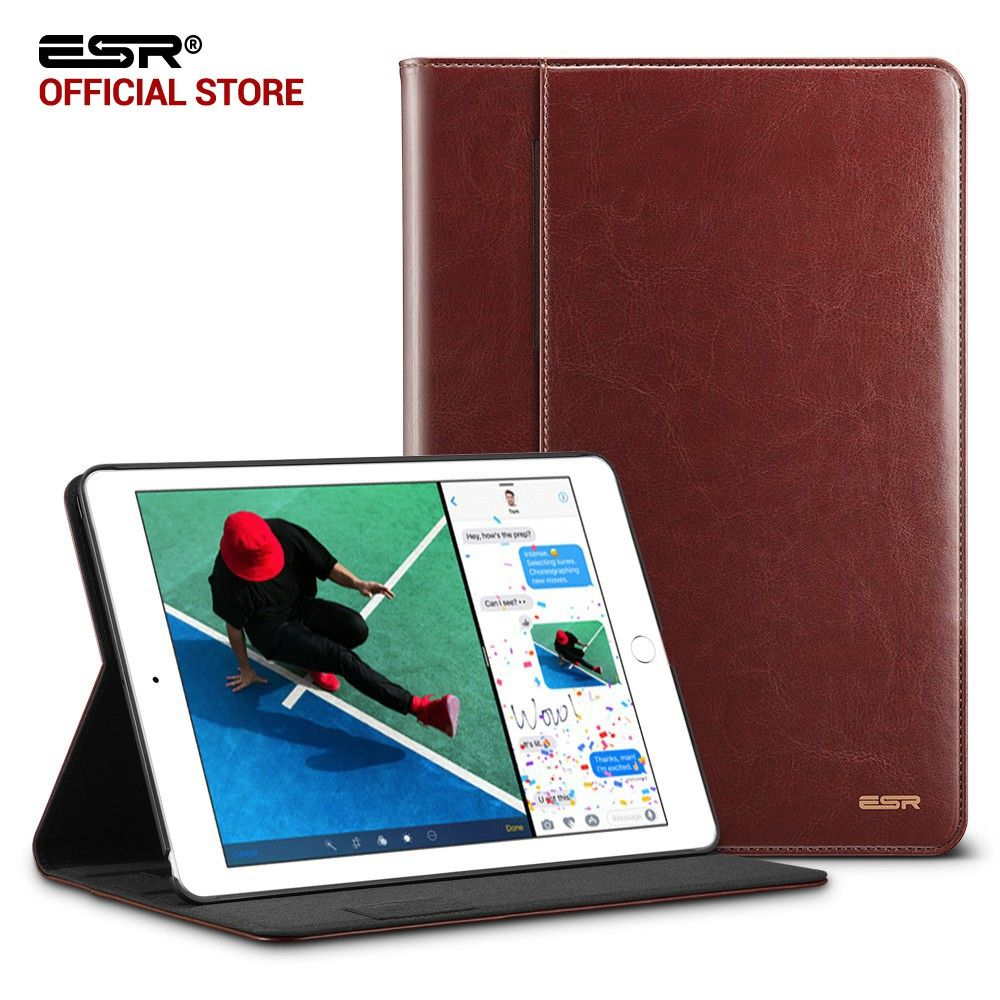 Case for iPad 9.7 2017 ESR Premium PU Leather Business Folio Stand Pocket Auto Wake Smart Cover for New iPad 2018 9.7 Case
