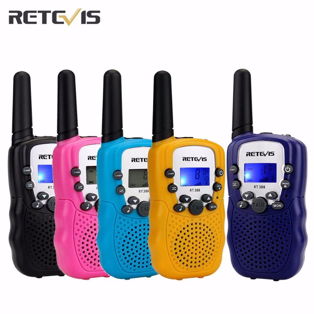 A Pair Retevis RT-388 Mini Walkie Talkie Kids Radio 0.5W 8/22CH LCD Display Amateur Two-way Radio Talkly Children Transceiver