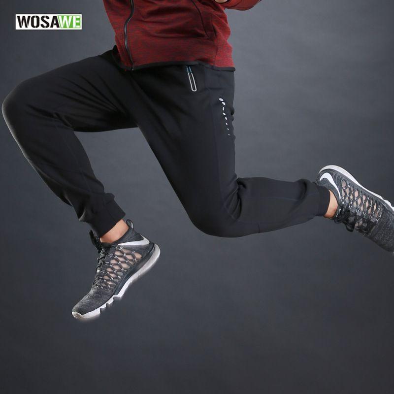 WOSAWE Sports Running Pant Sportswear Fitness Legging Hiking Camping Fishing Biking Gym Trousers Solid Polyester Training Long