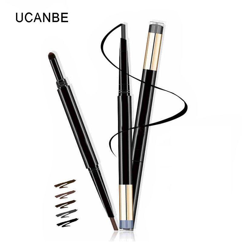UCANBE Marke 5 Farben Doppelseitige Augenbraue Make-Up Bleistift Langlebige Wasserdichte Brow Pen Liner Stick Kosmetik Stirn Pinsel