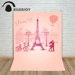 backdrops for photo fabric vinyl Paris Tower hot air balloon bike background photography photocall camera