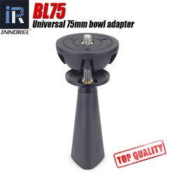BL75 75mm Universelle schüssel adapter metall halbkugel hemisphäre zu stativ schüssel für stativ flüssigkeit kopf DSLR kamera hohe qualität CNC
