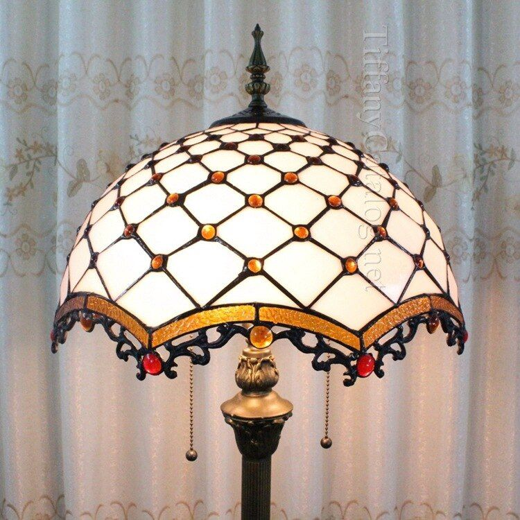 European Mediterranean Tiffany style floor lamp living room bedroom study landing lamp