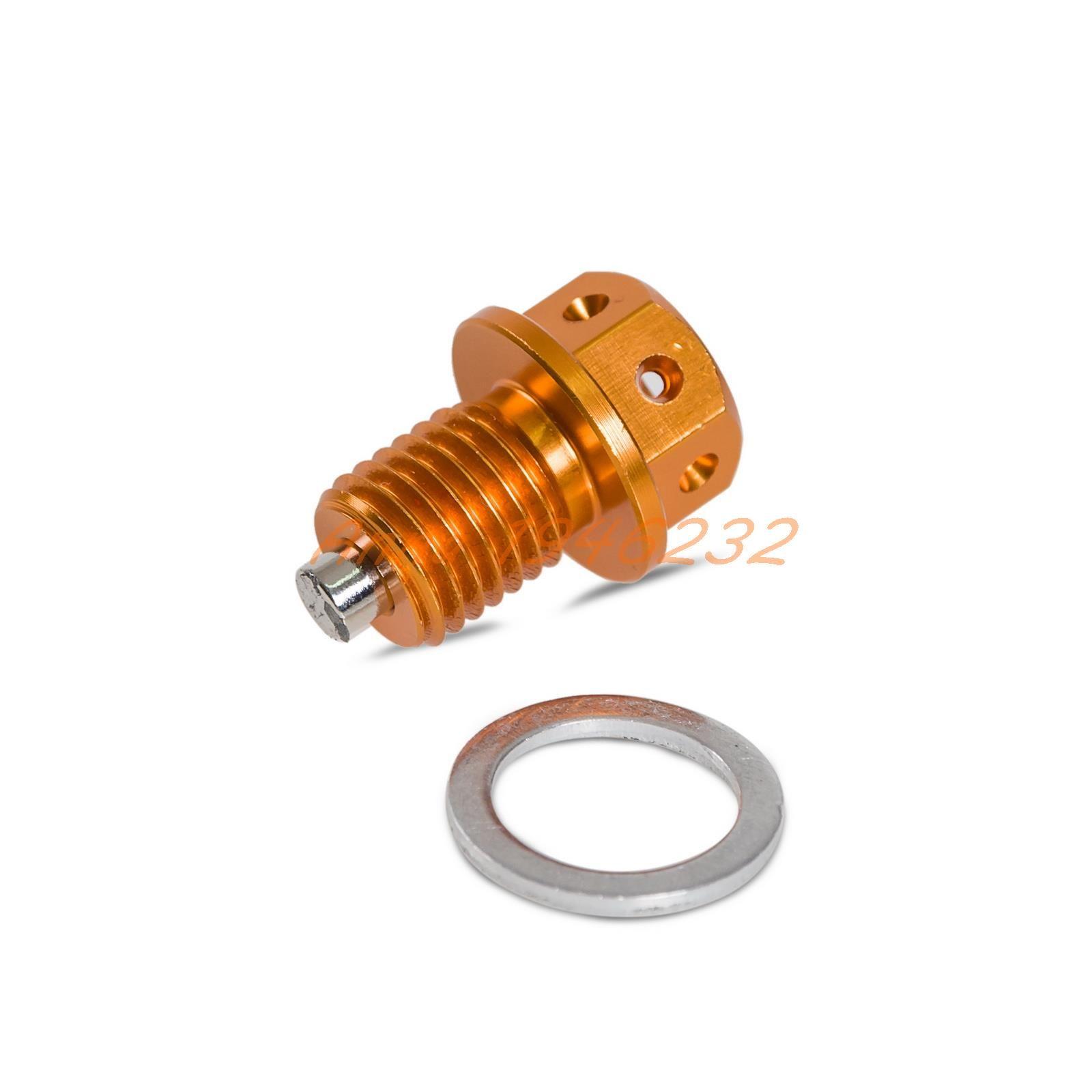M14xP1.25 Magnetic Oil Drain Plug Bolt For Suzuki GSX-R600 R750 R1000 1300R Hayabusa VL1500 Inazuma 250 400 1200