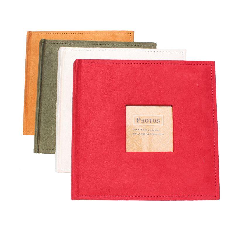 Insérer 6 pouces album photo 200 photos commémorative album 4 couleurs flanelle couverture avec note peut être écrit