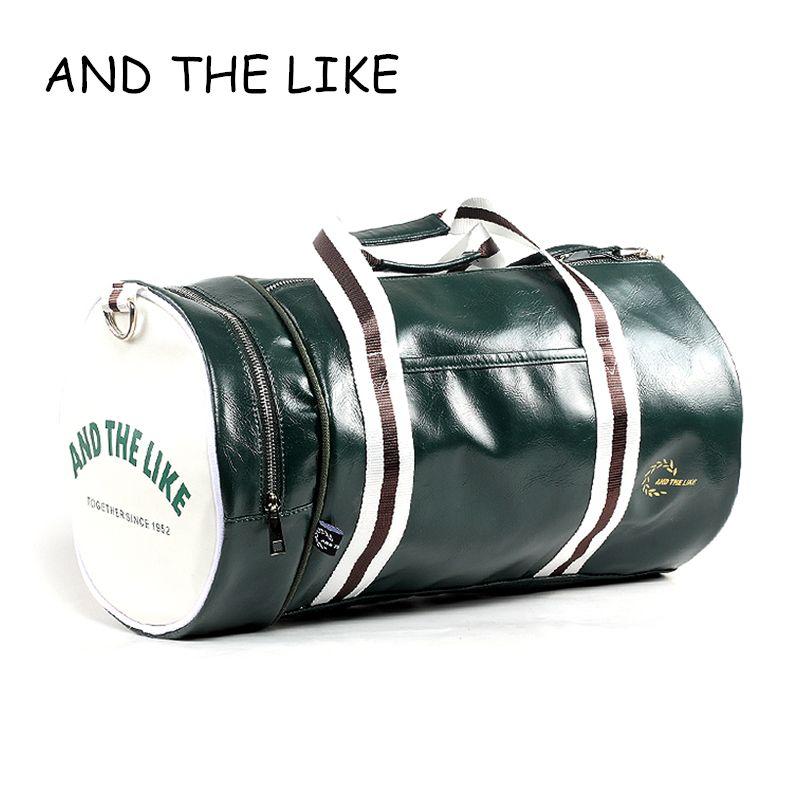 PU баррель Мужская спортивная сумка Фитнес Training сумка на плечо с независимыми Обувь карман смешанный Цвет спортивная сумка большая Размеры