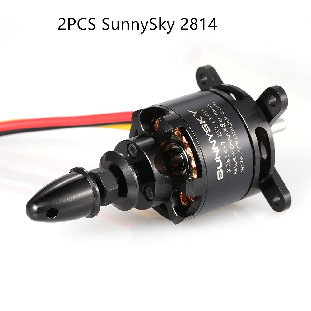 2PCS 900KV SunnySky X2814 2814 3-5S Brushless Motor for Fixed-wing Drone RC Motor Believer UAV 1960mm RC Airplane Helicopter