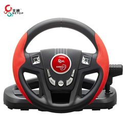 Hot Sale BETOP BTP-3189 300 Degree Shock Computer Driving Game Racing Wheel with Pedals Shift For PS3 For PC