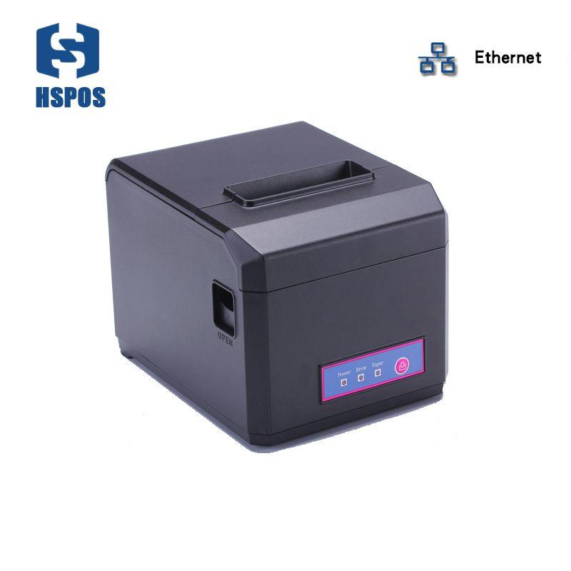 Hohe qualität 80mm impressora termica mit lan schnittstelle pos-quittungsdrucker unterstützung windows linux treiber desktop-drucker cutter