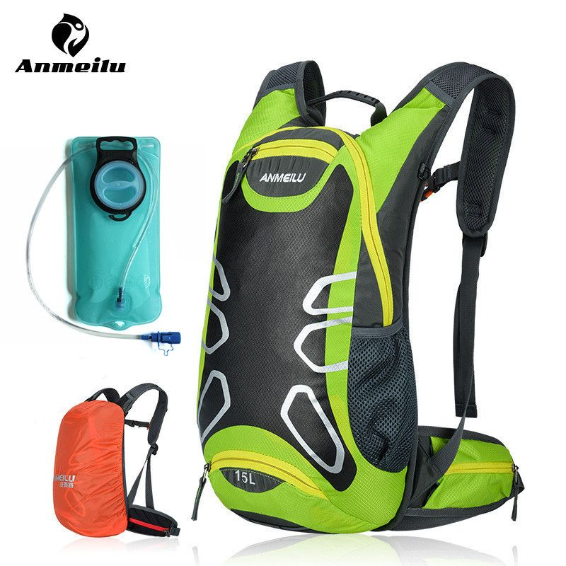 ANMEILU 15L Sports Water Bags Hydration Bladder Cycling Backpack Outdoor Climbing Camping Hiking Bicycle Bike Bag Camelback 2018