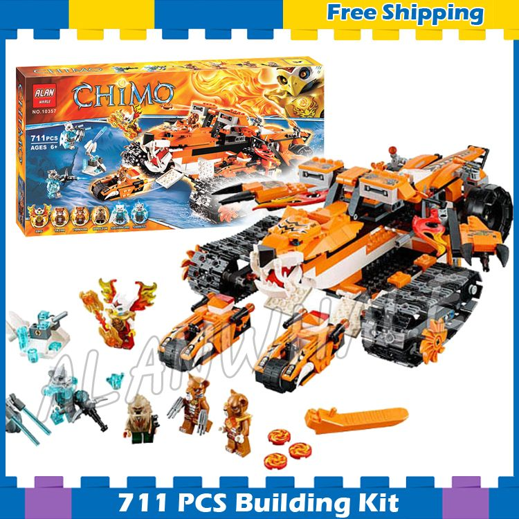 711pcs Tiger's Mobile Command Amazing Tiger Ice Tank 10357 Model Building Blocks Children Boys Gifts sets Compatible with Lego