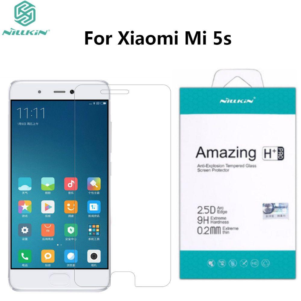 Xiaomi Mi5s Trempé Verre Film NILLKIN H + Pro 2.5D Ronde Bord trempé Protecteur D'écran En Verre Pour Xiaomi 5S Mi 5S 5.15 pouces