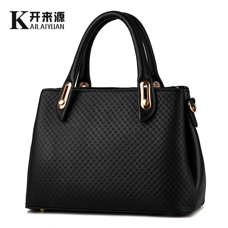 KLY 100% Genuine leather Women handbags 2018 New Western style styling fashion handbag Crossbody Shoulder Handbag